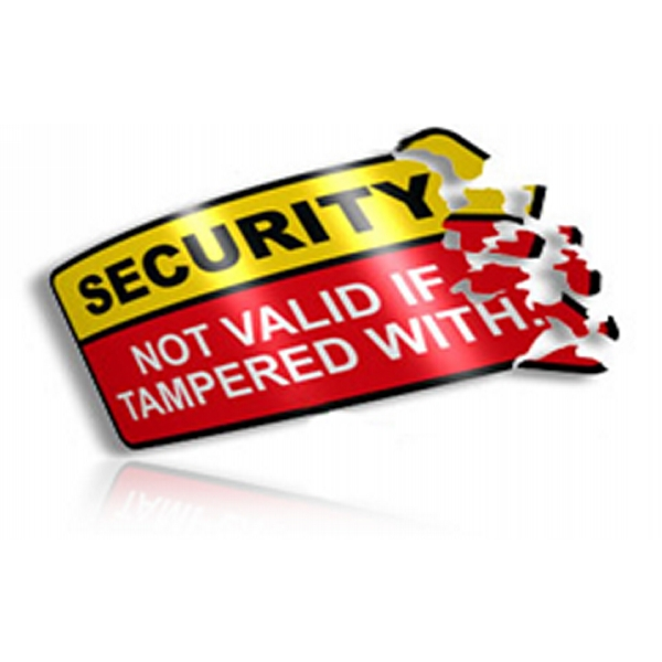 Destructible Security Sticker