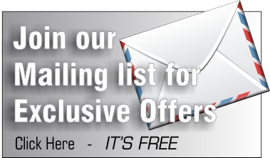 Join our Mailing list for exclusive offers