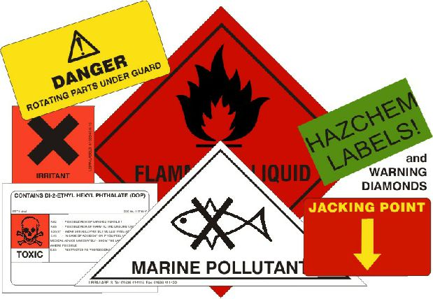 Hazchem Labels and Stickers